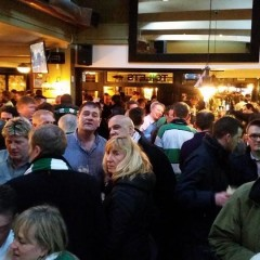 Great atmosphere in The 51 Bar on match day