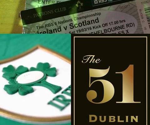 Ireland v Scotland in the nearby Aviva Stadium